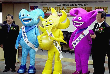 Korean World Cup mascots
